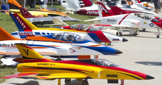 10th Annual Jets Over KY is the world's largest remote control jet show.