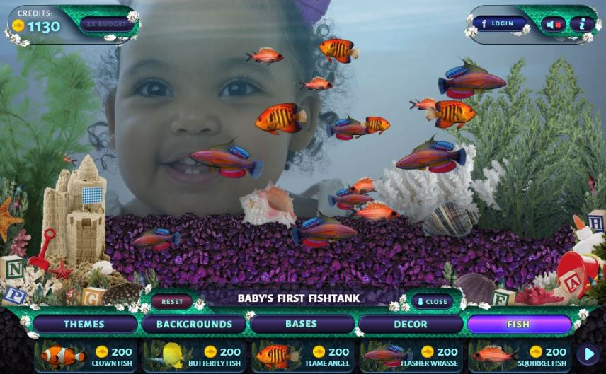 Build amazing virtual custom fish tanks in minutes on your computer or iPad.