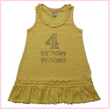 4th birthday sunflower dress