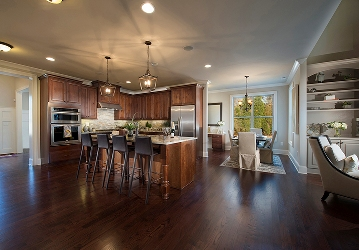 Kitchen in the model home at Nesbit Reserve in Roswell.