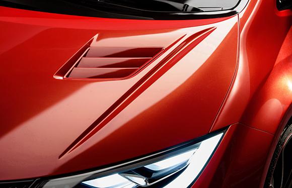 2015 Civic Type R Hood Detail