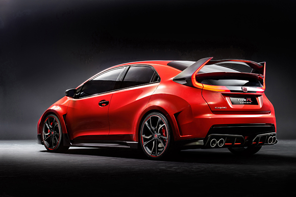 2015 Civic Type R Rear Three Quarters