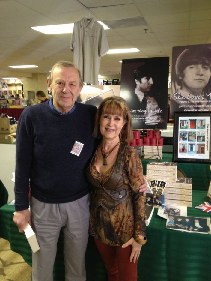 Former Beatle Chas Newby with author Jude Southerland Kessler