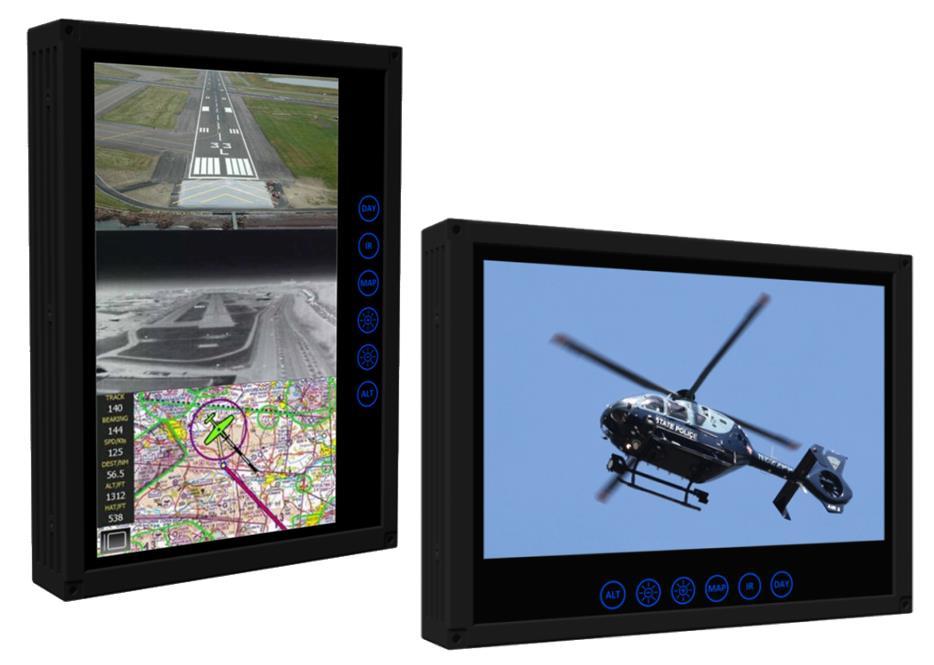 "AVI's D1000 Series 10.6"" Multifunction Displays"