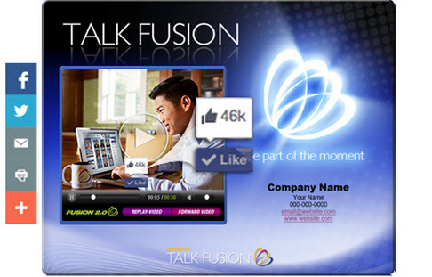 Talk Fusion's new Social Share feature