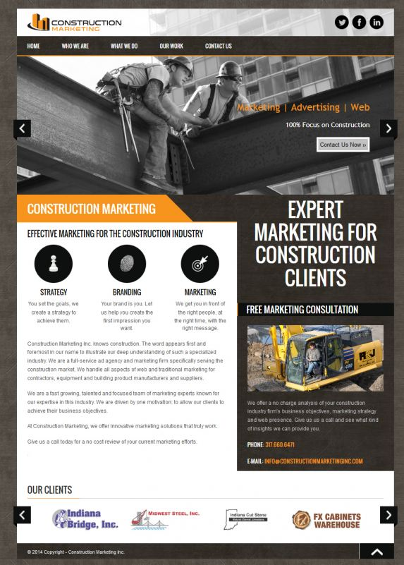 Construction Marketing Inc website