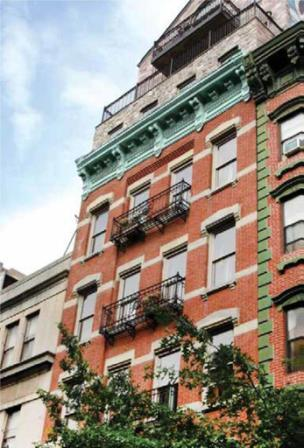 The Stately Blue Moon Hotel on Manhattan's Lower East Side