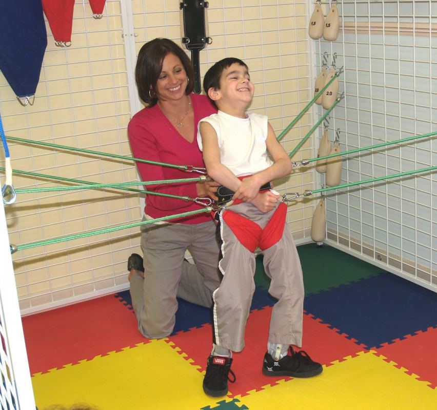 Dr. Monica Johnson and patient in the Universal Exercise Unit (UEU)