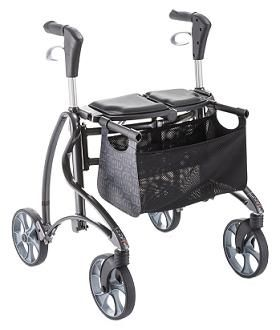 Dolomite Jazz Rollator with Enclosed Brake Cables and Side Folding