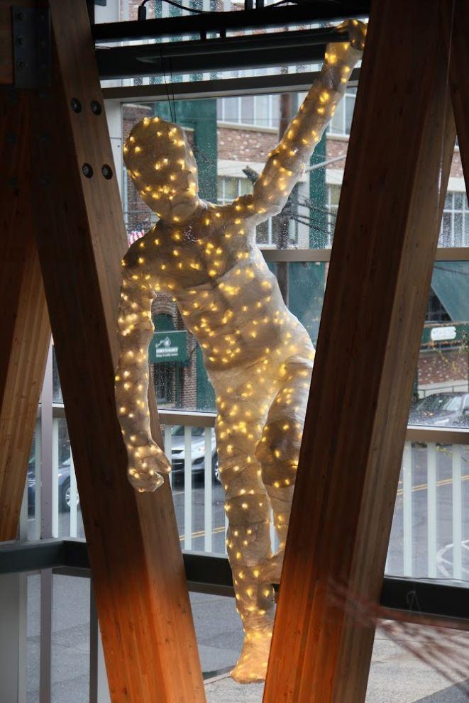 Jason Drugman, Freddy, 2014, Plastic, Wire Mesh, Wood, LED Lights