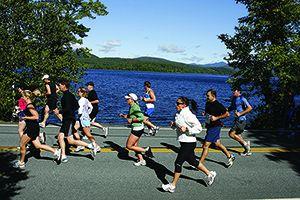 Adirondack Marathon Runners along Lakeshore