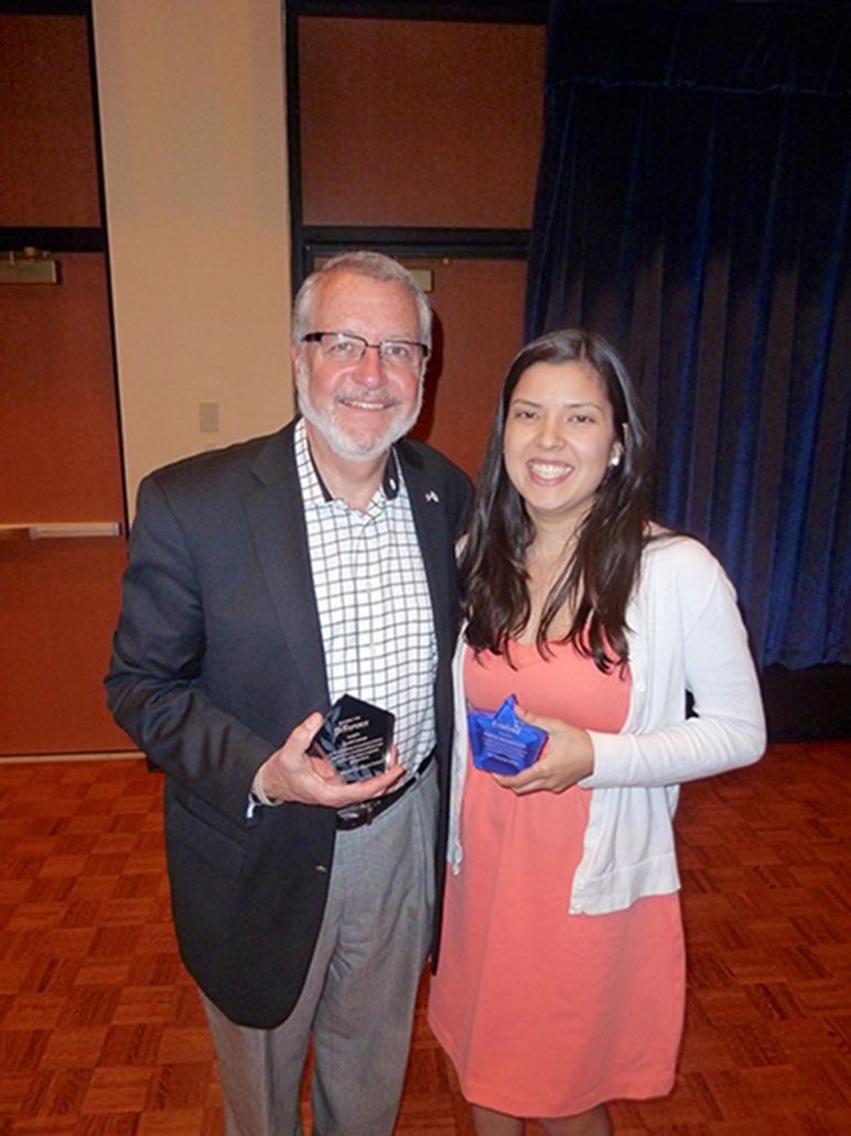 David Dumpe, Ph.D., and Kavitha Bagavandoss are two who were recognized April 9.