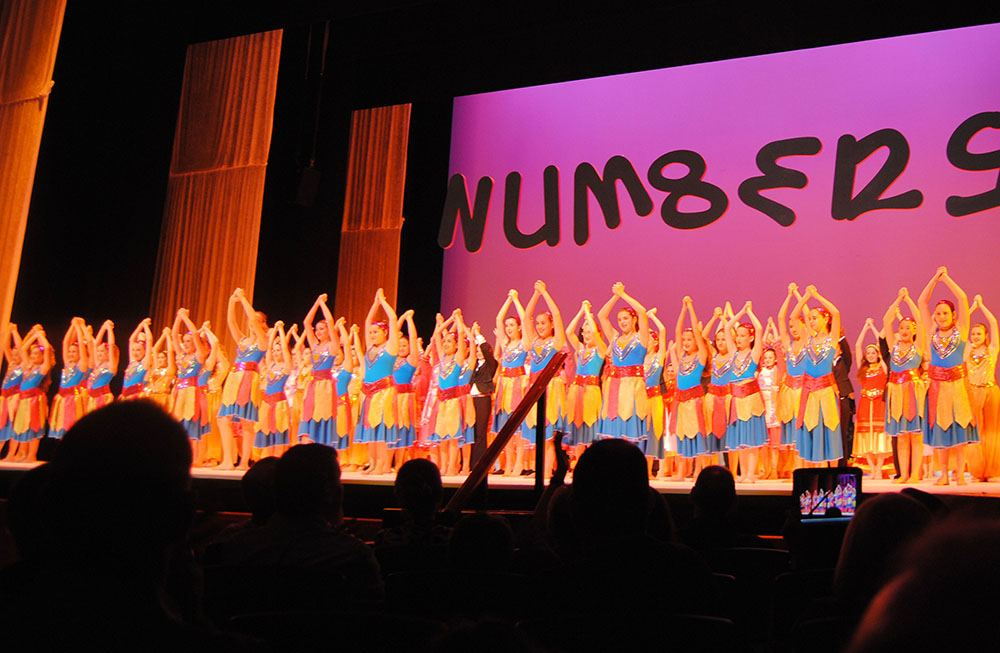 Dancers fill the stage last year at the17th Annual Festival Yachad