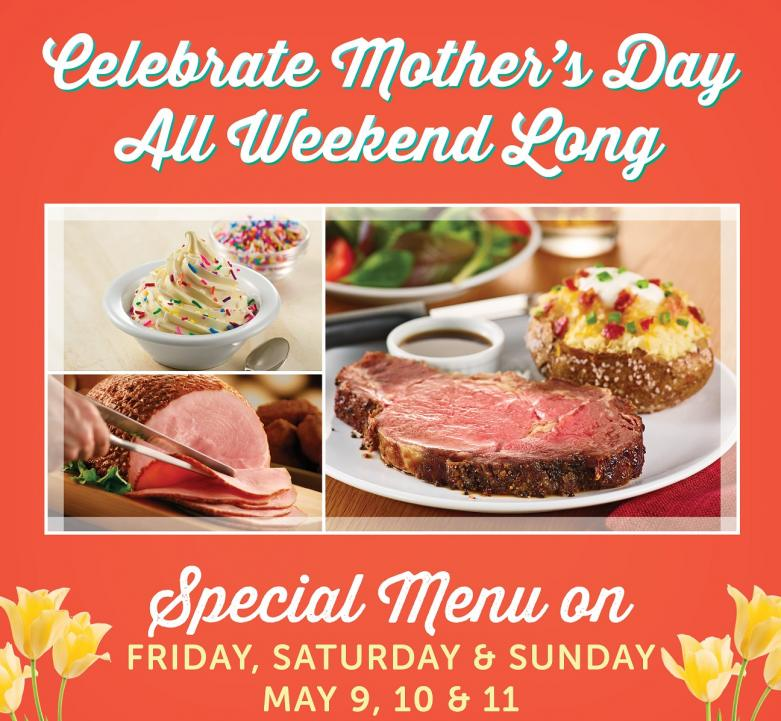 Mother's Day Weekend at Ryan's, HomeTown Buffet & Old Country Buffet
