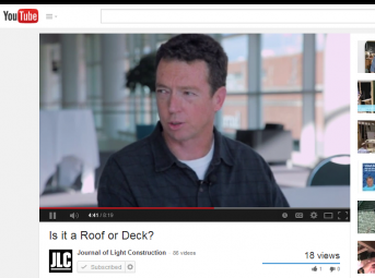 Screen Shot Is it a Roof or Deck  - YouTube