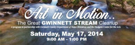 Volunteers needed for Art in Motion - Great Gwinnett Stream Cleanup on May 17