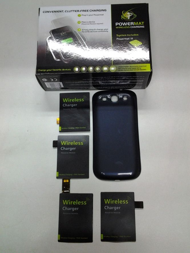 Powermat x 1 bundle set with thin receiver for phone
