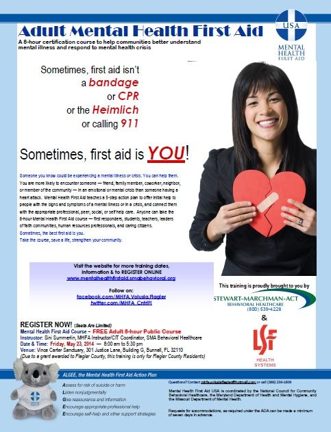 Mental Health Training Course Being Offered May 23rd in Bunnel, FL.