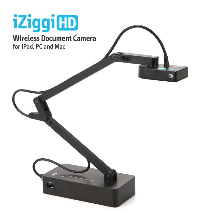 iZiggi HD Wireless Document Camera for iPad, PC and Mac