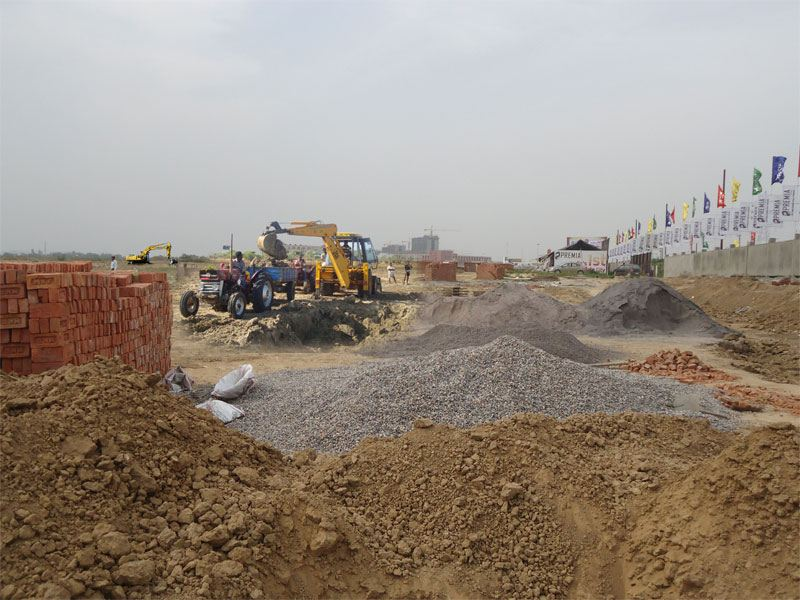 India's 1st Corporate City - Premia Corporate City Construction Pic