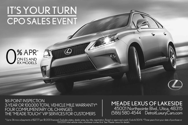 Pre Owned Lexus >> It S Your Turn Lexus Certified Pre Owned Sales Event Brings