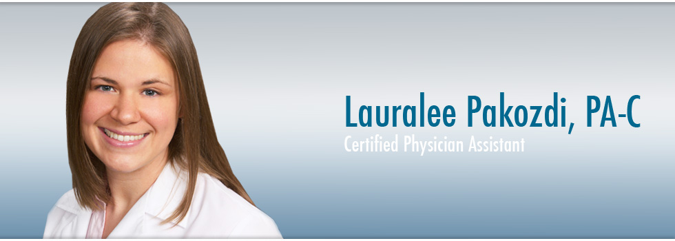 Lauralee Pakozdi, PA-C of Laser + Skin Institute Dermatology, Chatham, NJ