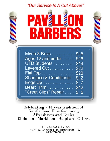North Dallas Area Barbershop