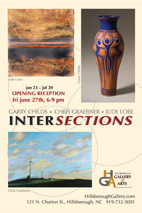 INTERSECTIONS - June 23rd through July 20th at the Hillsborough Gallery of Arts