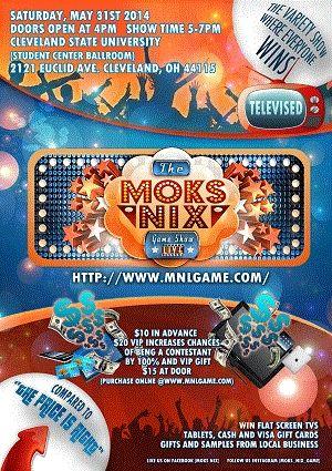 MoksNix May Flyer front