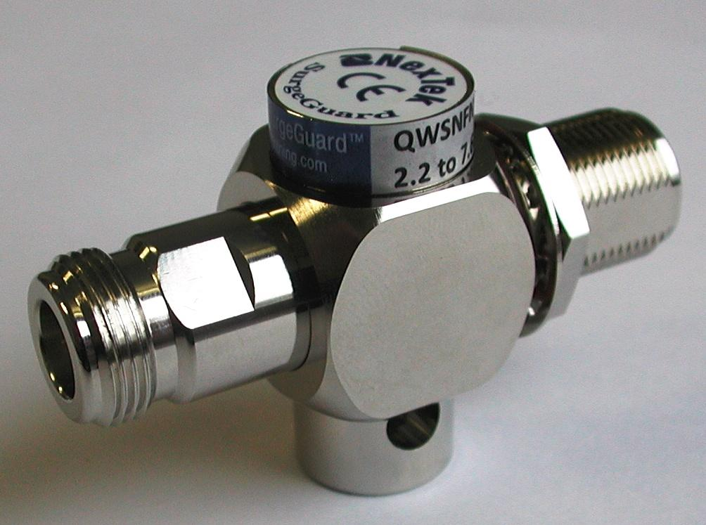 QWS0600 Wideband Coaxial Arrestor, Female to Female Configuration