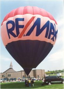 RE/MAX Hot Air Balloon inflation