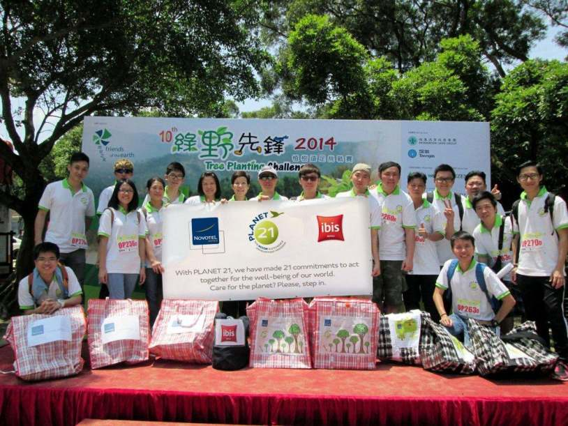 Tree Planting Day - Novotel Century Hong Kong