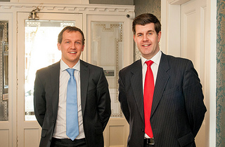 Graham + Sibbald partner Fraser Lang, right and senior surveyor Alasdair Cameron