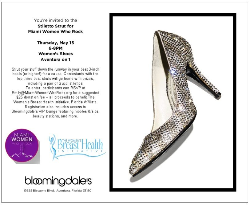 "Miami Women Who Rock Present ""Stiletto Strut"" Benefit for the WBHI"