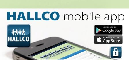 HALLCO Mobile App is now available to credit union members for free download