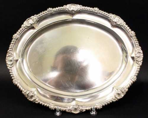 This George III tray by British silversmith Paul Storr will be sold June 6-8.