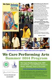 We Care Performing Arts | Minnesota - Summer 2014