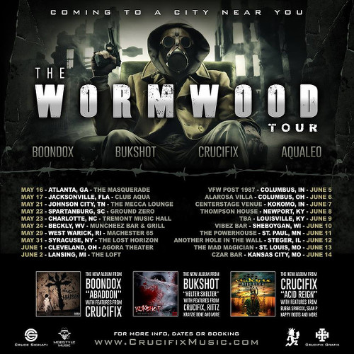 Crucifix Tour Dates