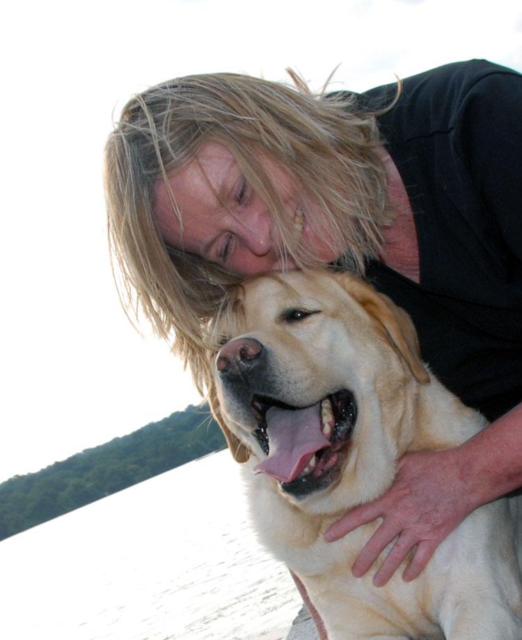 Reiki Master Susan Hamlin with Sundance Kid