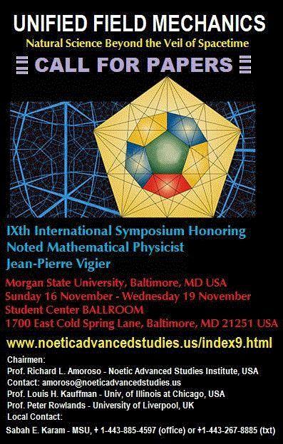 Announcement Poster for Vigier IX Symposium