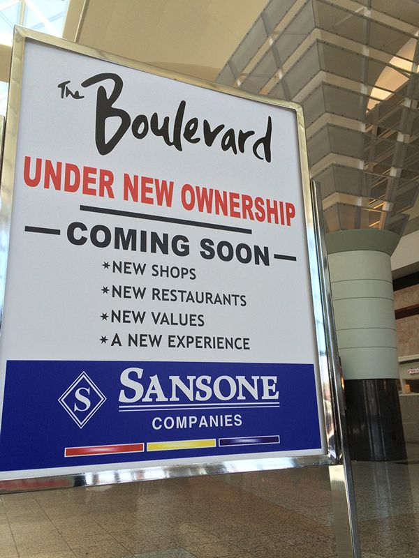 Sansone Companies accepting new tenants at The Boulevard Mall Shopping Center
