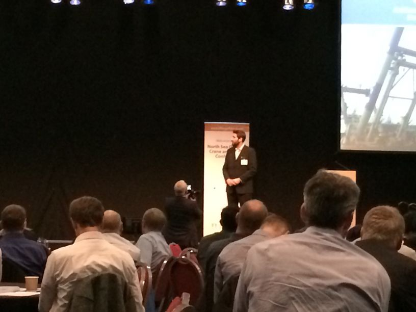 Anthony Culshaw presenting at the North Sea Offshore Crane & Lifting Conference