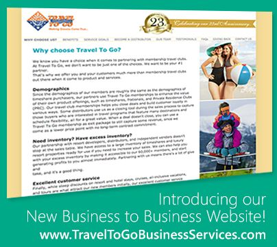 Travel To Go New B2B Website