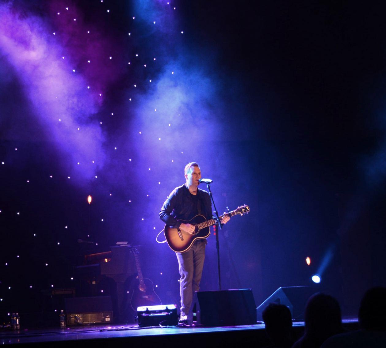Matthew West performs at Watermark Community Church.