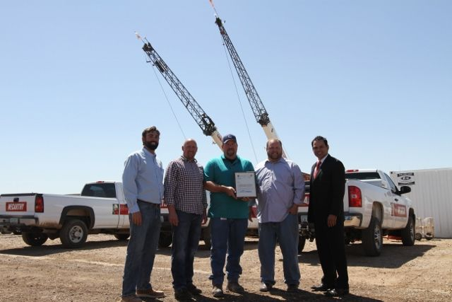 McCarthy and CIty of Chandler Construction team receive VPP award from ADOSH