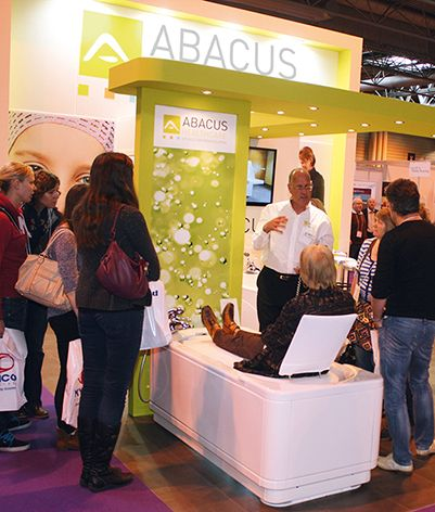 The new Gemini bath from Abacus Healthcare is demonstrated at Naidex National