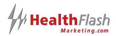 HealthFlash Marketing Logo