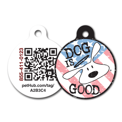 Patriot - digital ID tag from Dog Is Good and PetHub.com - keep your pets safe!