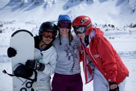 Snow Camp skiers