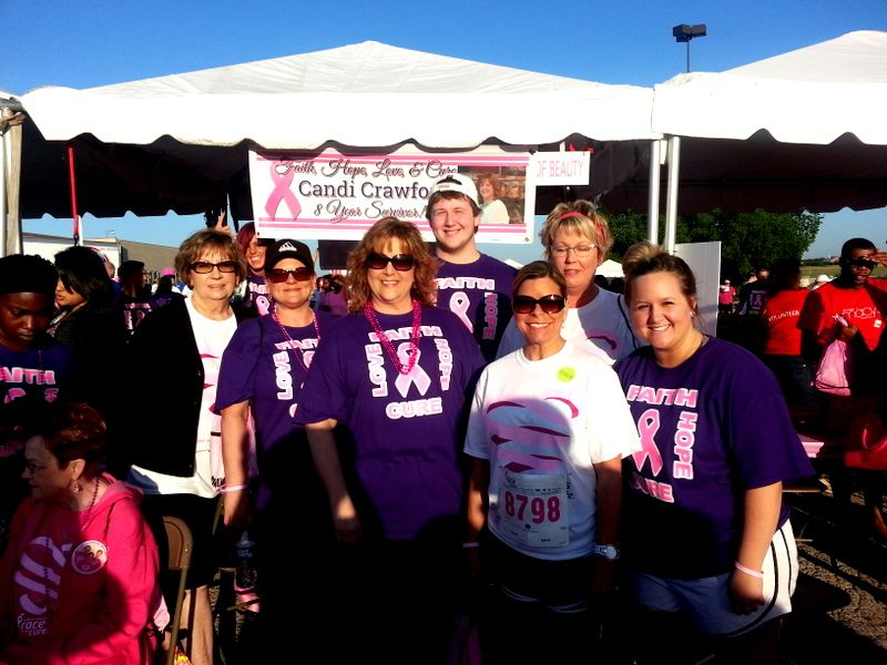 Candi and family at 2014 race for the cure in Fort